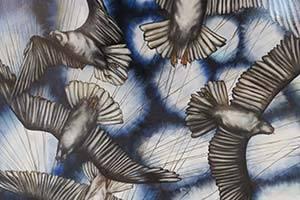 Schilderij met vogels