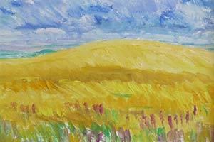 Landschap met korenveld