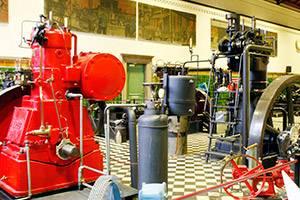 Maskinhallen på Industrimuseet