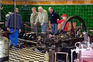 The RV engine workshop at Industrimuseet