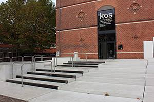 The main entrance at KØS