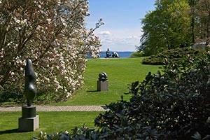 Park med skulpturer