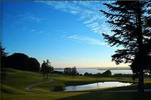 Solnedgång vid Mariager Fjord Golfklub