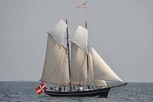 The schooner Meta at sea
