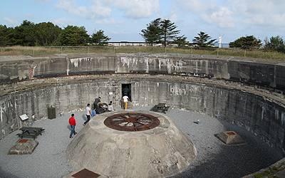 Bunkeranlæg i bunkerrmuseet i ferieområdet Hanstholm