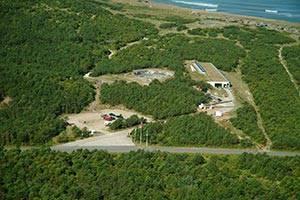 Luftfoto af bunkeranlæg