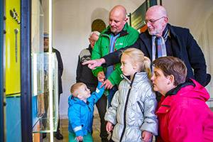 Familj på Ribe Domkirke Museum