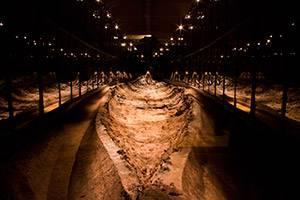 Ladbyskibets udgravning - udstilling på Vikingemuseet Ladby