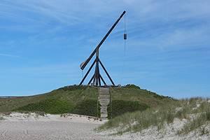 Der bekannte Vippefyr in den Dünen am Sønderstrand von Skagen