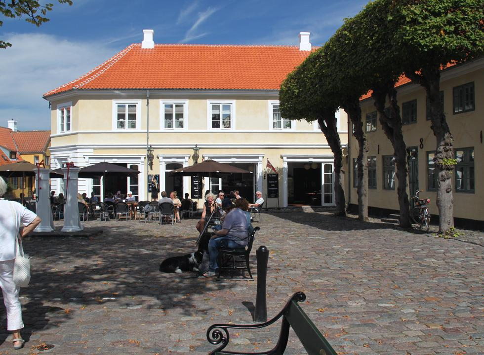 The evocative square in Ærøskøbing