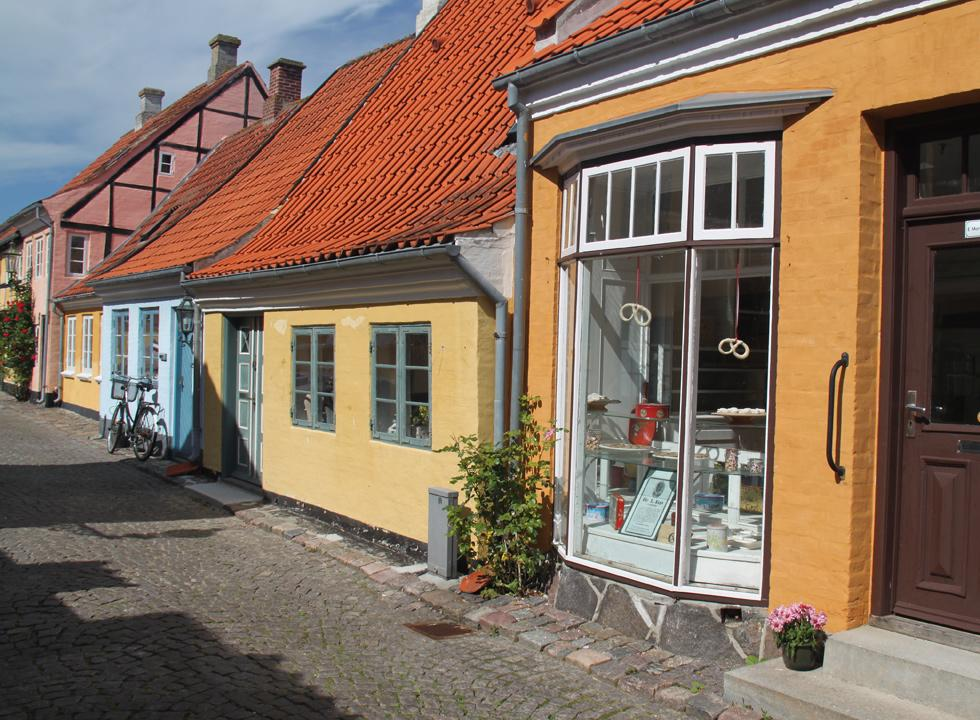 Historic baker's shop in the centre of Ærøskøbing