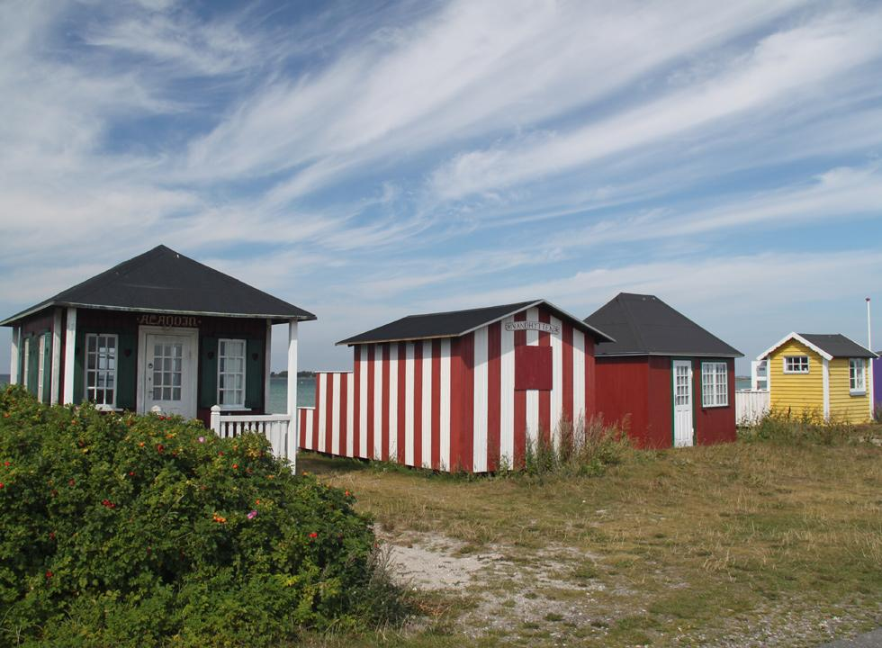 Idyllic beach huts by the lovely beach in the holiday area Ærøskøbing