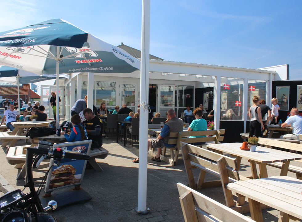 Popular eatery, which is situated right behind the beach and the dunes in Agger