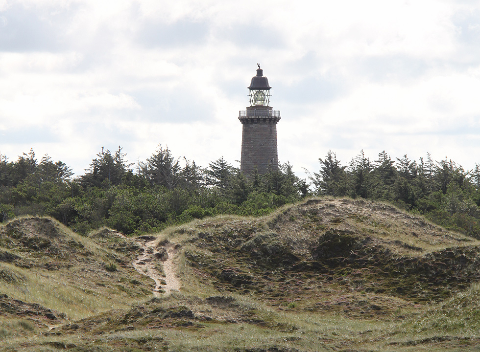 The lighthouse Lodbjerg Fyr in Nationalpark Thy, 8 km to the north of Agger