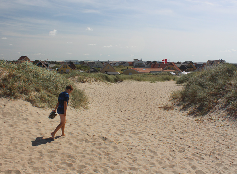 View of the roofs of Agger from the dunes of the beach