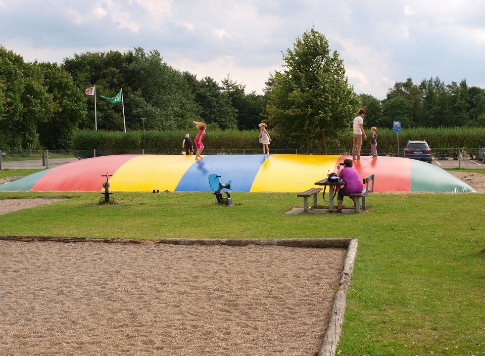 One of the childrens' favorits in Arrild; the large jumping pillow
