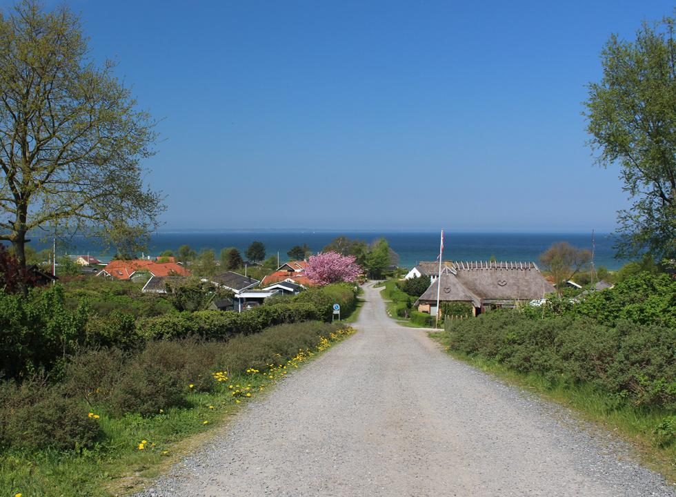 A cosy road with holiday homes in the holiday area Båring