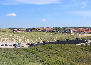 Holiday homes right behind the beach and the dunes in Blokhus