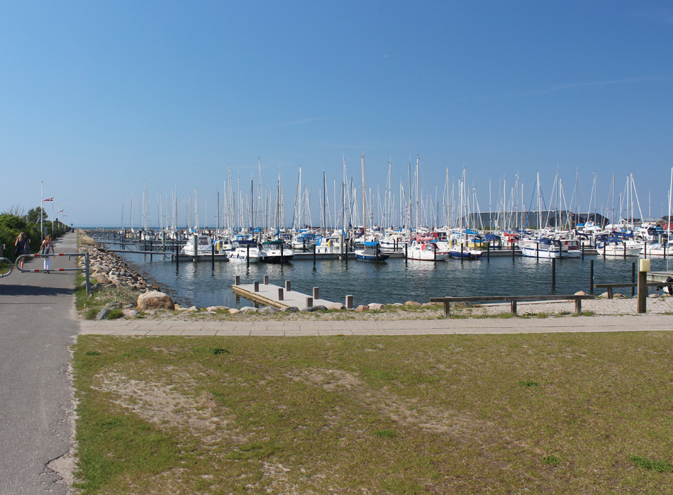 The large and beautiful marina in Bogense