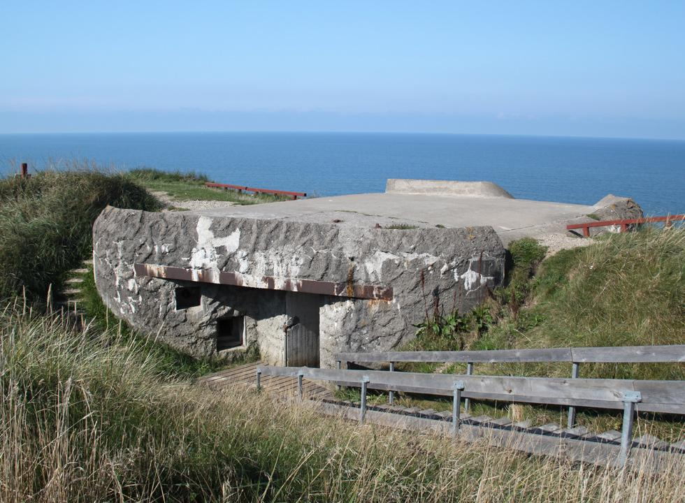 Bunker on the top of the bird cliff Bulbjerg