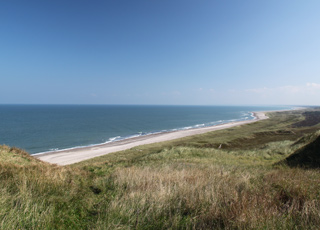 The view towards north from the top of the bird cliff Bulbjerg