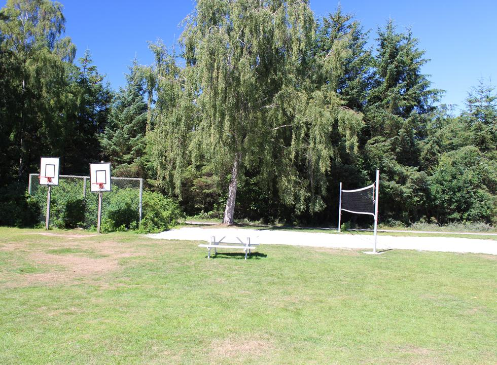 Different courses for ball games are part of the shared facilities in Dueodde Ferieby