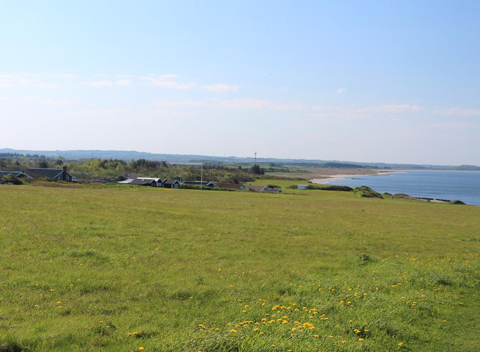 View of the holiday homes, the nature areas, the beach and the bay