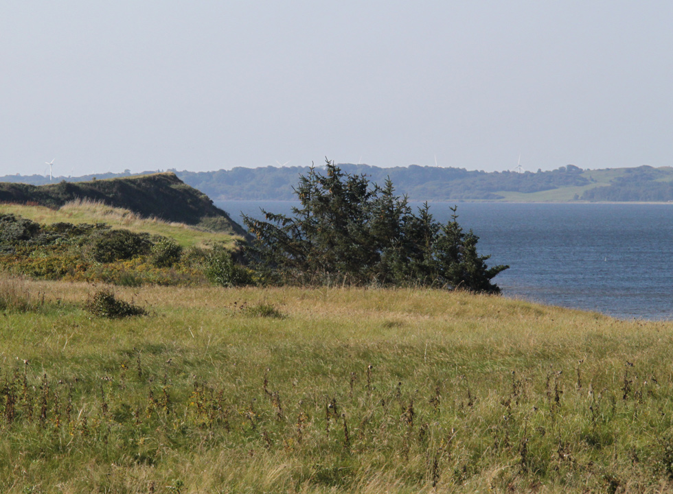 View of the Limfjord towards the island Fur and the region Salling from Ertebølle