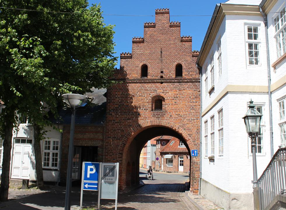 The old town gate in Fåborg originates from the Middle Ages