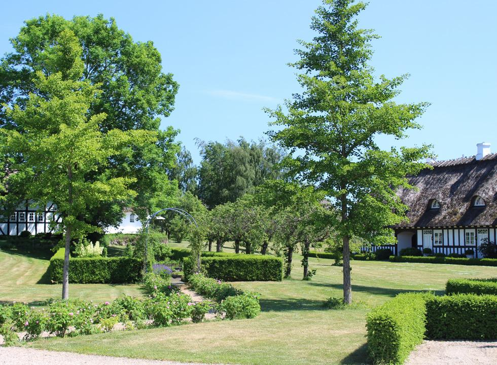 The beautiful garden of the inn, Falsled Kro