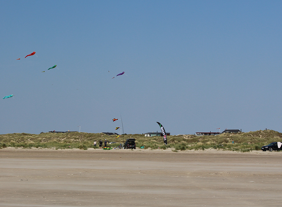 The beach in Rindby, near Nyby, is very suitable for kite flying