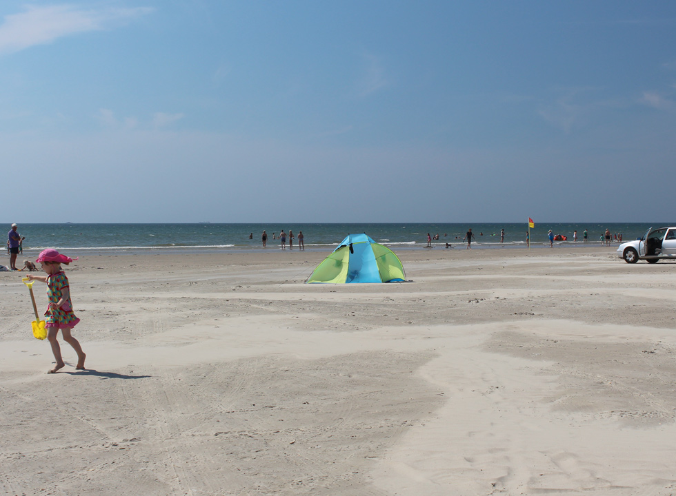 A lovely summer day on the beach of Rindby by Fanø, Nyby