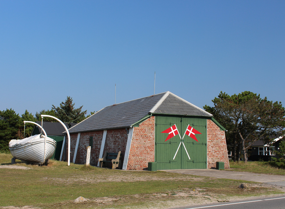 The restored rescue house in the holiday home area Fanø, Nyby