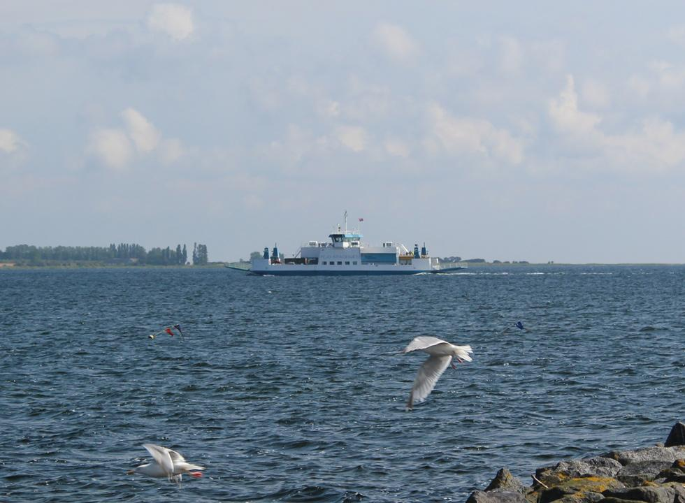 The Fejø ferry, which sails between Kragenæs on Lolland and the holiday island Fejø