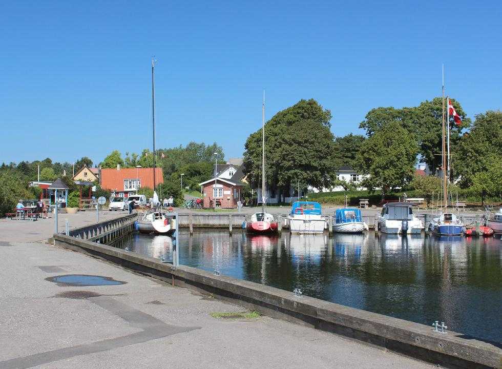 The charming harbour Dybvig Havn on the south coast of Fejø