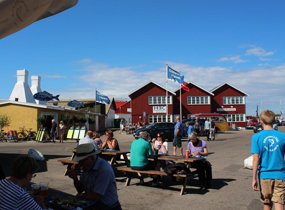 In the marina of Gilleleje you will also find a smokehouse