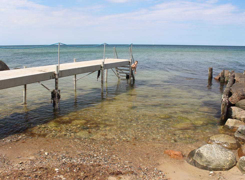 Bathing jetty on the western beach of Gilleleje near the point Gilbjerghoved
