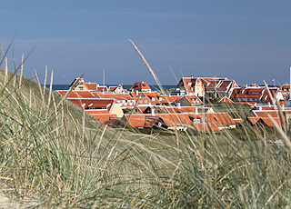 View of Gammel Skagen from the dunes behind the town