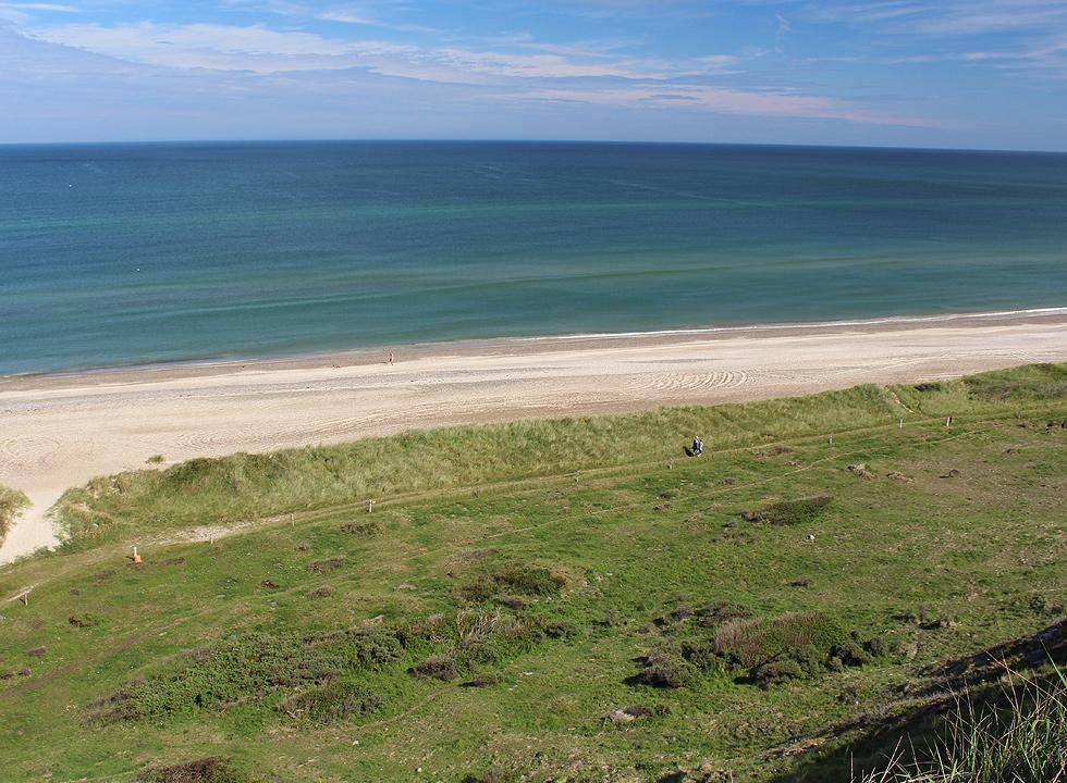 View of the area Grønne Strand from the hills