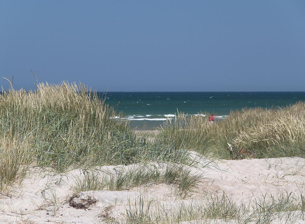 A summer day on the beach of Grønne Strand