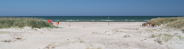 A summer day on the bathing beach of Grønne Strand
