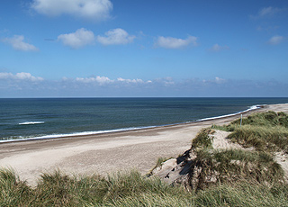 The great bathing beach south of Hanstholm