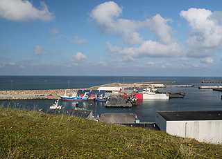 The fishing port of Hanstholm