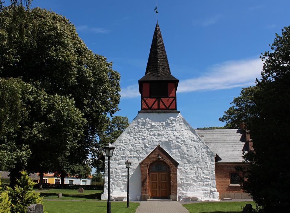 The church of Hasle is built in gothic style and contains many historic elements