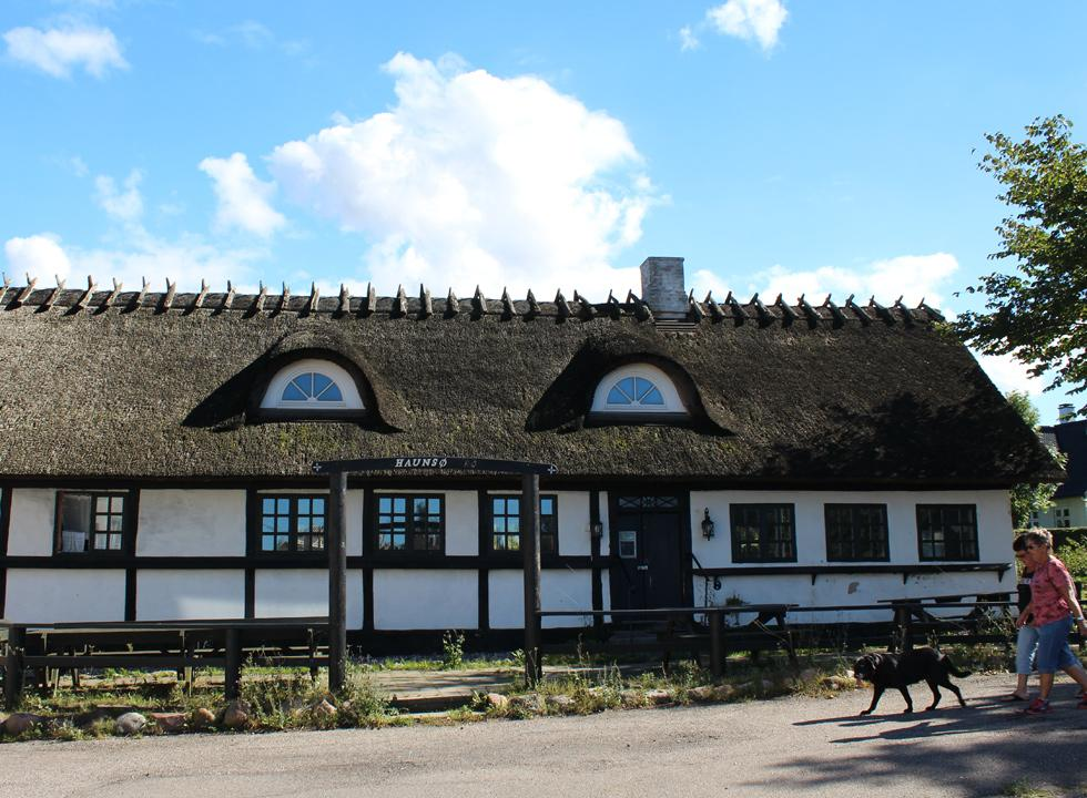 Idyllic half-timbered and thatched house in Havnsø