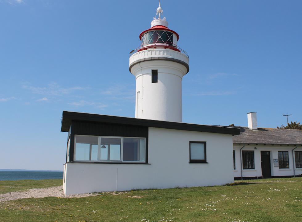 The lighthouse, Sletterhage Fyr, on the southern tip of Helgenæs