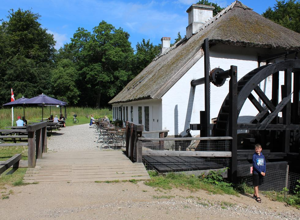 The mill, Hammermøllen, in Hellebæk is restored and functions as a museum and café today