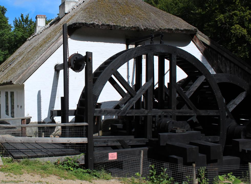 The impressive and still functioning mill wheels by the watermill Hammermøllen