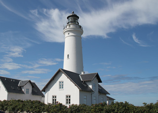 The white lighthouse in Hirtshals