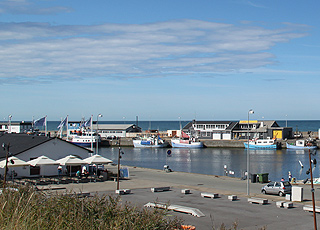 The harbour of Hirtshals with plenty of atmosphere